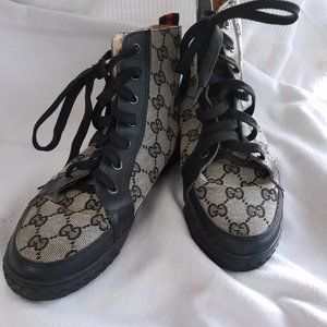 Double-G high-top sneakers fit size 8
